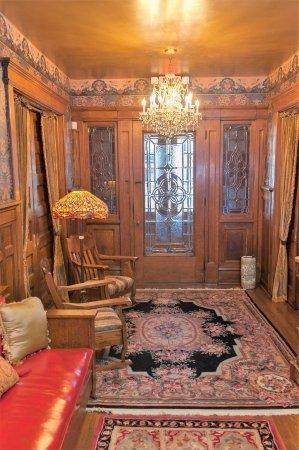 Scottdale, PA:  Massive oak and crystal vestibule entry