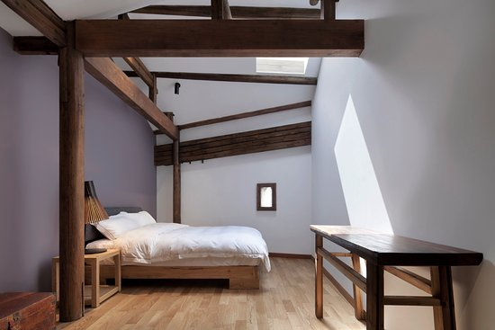 Wuyuan County, Κίνα: upstairs double bedroom