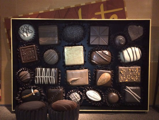 "Bloomfield Hills, MI: The wall of ""Chocolate"" as part of the featured exhibit!"
