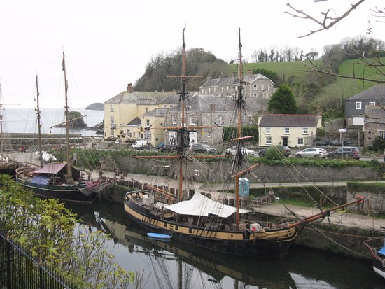 St Austell, UK: Sailing ships in Charlestown