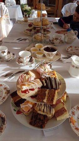 Henley-in-Arden, UK: Table full of food