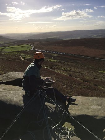 Hope Valley, UK: Top belaying