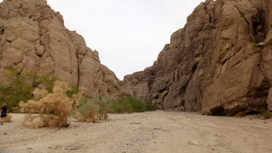 Painted Canyon: The start of the hike. This is the gorge with the fairly deep sand.