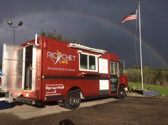 Clio, CA: Our food truck services our cafe. Ricochet Cafe inside The Blackbird Inn