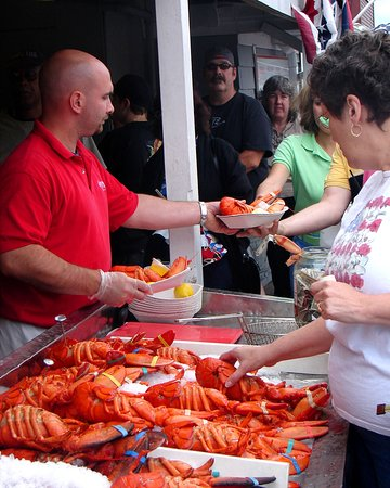 Essex, MA: Lobsters out Front w/ Customers
