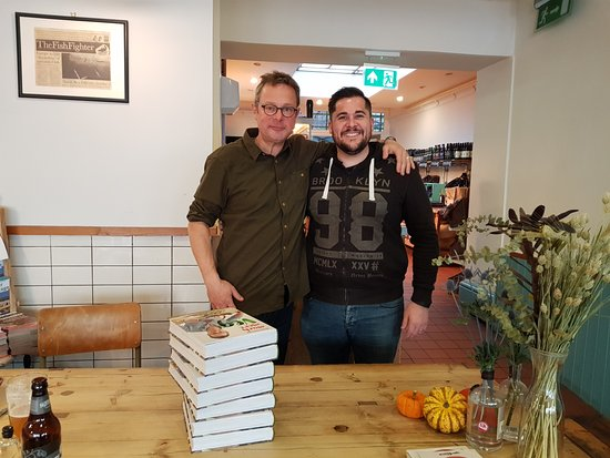 Axminster, UK: Hugh 'More Veg' book signing.