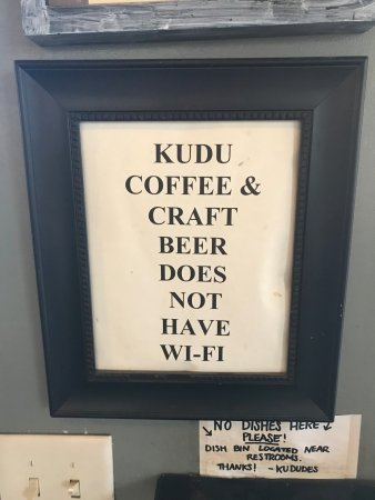 Kudu Coffee & Craft Beer: Front entrance view from King street.
