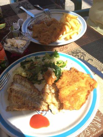 Chuburna, Mexiko: Lunch with fresh caught fish