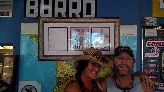 Maricopa, AZ: Me and my wife, inside in front of american pickers photo