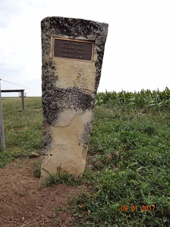 Larned, KS: Sign, Santa Fe Trail