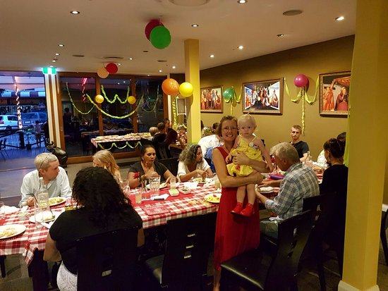 Birthday girl celebrating a marvelous evening here at Cumin kitchen Murwillumbah