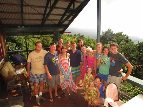 Captain Cook, HI: An entertained and educated group after an hour with Bill(on left) at his beautiful property