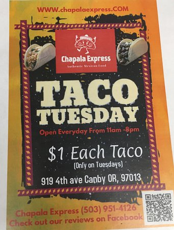 Canby, OR: unlimited tacos on tuesday for $1