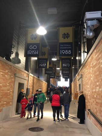 The Tunnel Picture Of Notre Dame Stadium South Bend Tripadvisor
