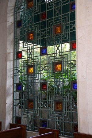 National Memorial Cemetery of the Pacific: Window in the cemetery chapel.