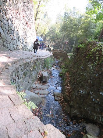 Deqing County, Kina: The hiking track