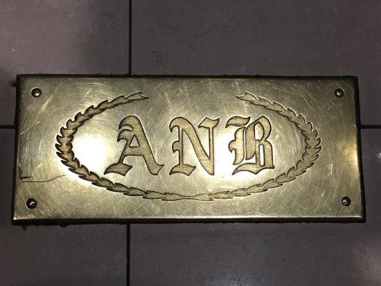 Drury Plaza Hotel San Antonio Riverwalk: Elevators still carry the Alamo National Bank markings