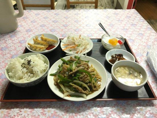 Chikuma, Japão: チンジャオロース定食