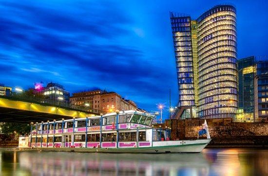 Sightseeingsejltur om aftenen med middag i Wien