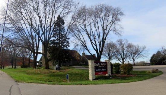 Galena, IL: sign for the Eagle Ridge North Course