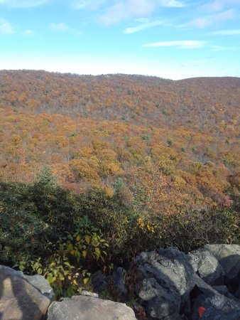 Kempton, PA: Fall colors as seen from Hawk Mountain.