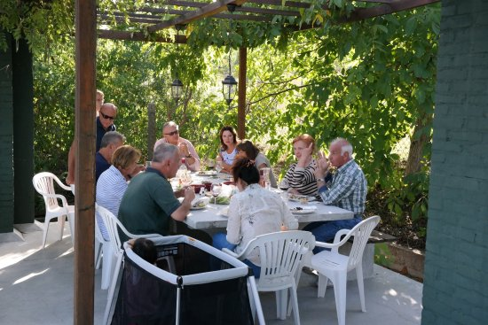Central Serbia, Serbia: Lunch at the terrace Plavinci Organic Winery