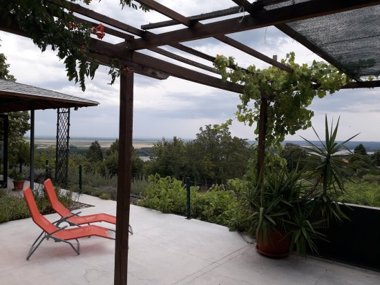 Central Serbia, Serbia: Terrace at Plavinci Organic Winery