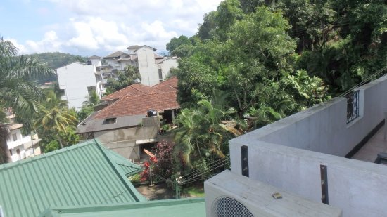 FoRest Villa: Not much of a view. There is roof top too - but vuew does not improve much