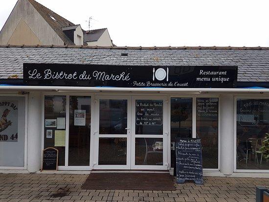 La Turballe, Frankrig: l'entré du resto place du marché