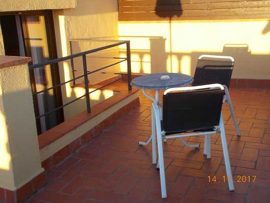 Hotel Del Mar: ein Teil der Terrasse