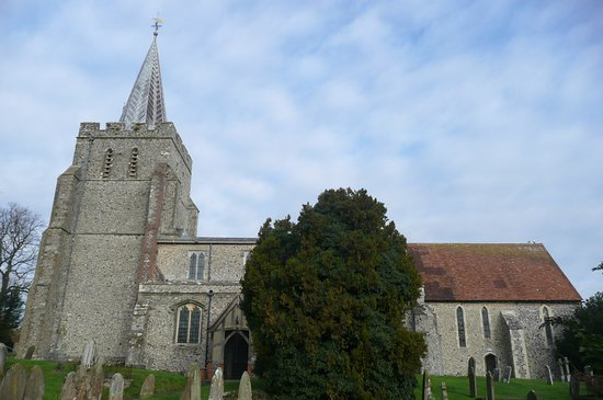 Elham, UK: the church