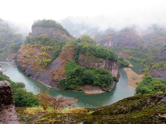 Wuyi Mountain Scenic Resort : One view from top of mountain