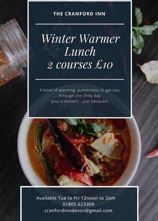 Great Torrington, UK: Something light but hearty to get your through the chilly days