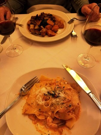 Buona Tavola: Pappardelle pasta and veal entre.