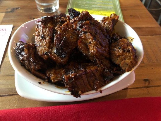 David Alan Alan's Smokehouse: Burnt Ends - the brown/black if FAT only