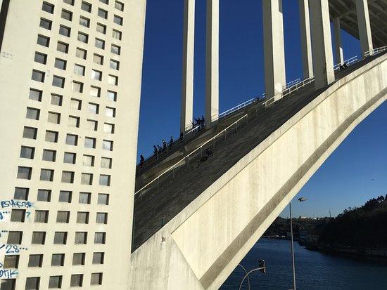 Distrito do Porto, Portugal: vue d'en bas sur le parcours