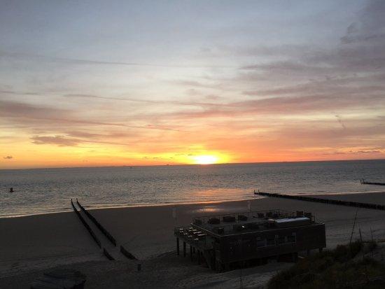 Westkapelle, Holandia: Prachtige zonsondergang