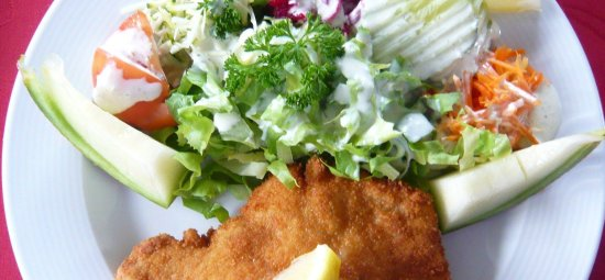 Seftigen, Suiza: Paniertes Schnitzel