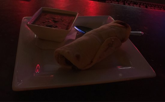 Fluid Bar and Grill: Moroccan Spiced Falafel Naan Wrap