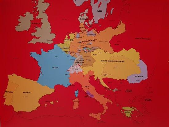 carte europe 1870