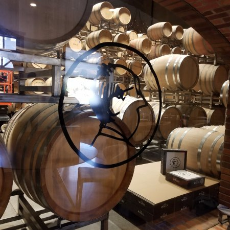 "Walla Walla, WA: Looking into ""The Walls"" barrel room."