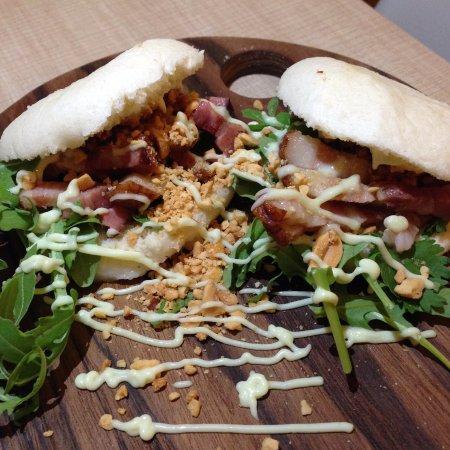 Hasselt, Belgium: steamed buns pork belly