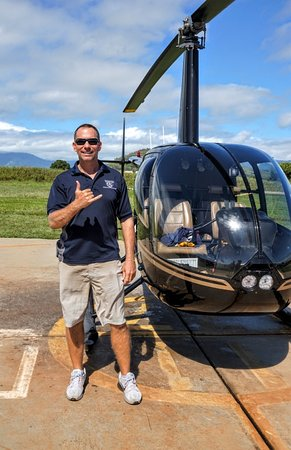 """Mauna Loa Helicopter Tours: Our wonderful pilot Brian and his """"trusty steed"""""""