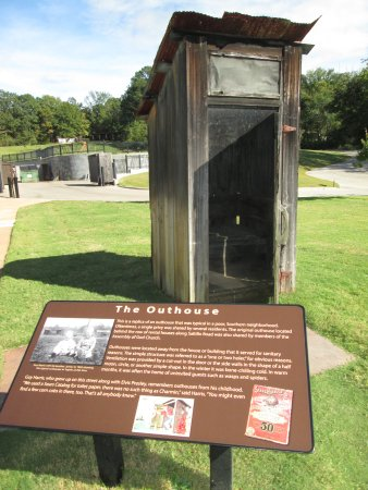 Elvis Presley Birthplace & Museum: the outhouse