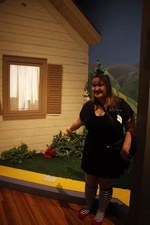 Wamego, KS: I was dressed like the Wicked Witch of the West, so of course I had to get a picture!