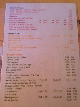 Chexbres, Suiza: menu