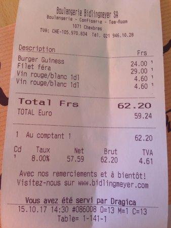 Chexbres, Suiza: bill
