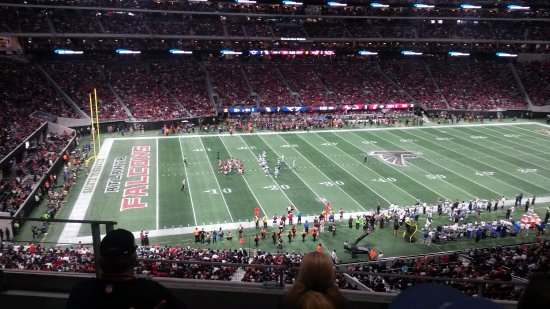 View from section 241 visitor side row 4 seat 18 for View from my seat mercedes benz stadium