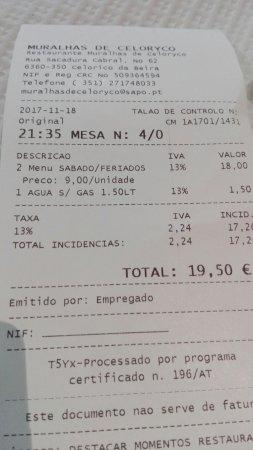 Restaurante Muralhas de Celoryco: IMG_20171118_213409_large.jpg