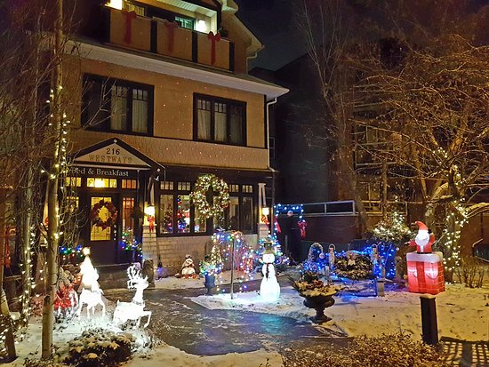 Calgary Westways Guest House: Our Xmas front yard